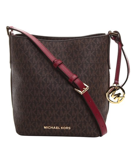 6bdf4b0bbac9b1 Michael Kors Brown & Mulberry Kimberly Small Bucket Bag | Zulily