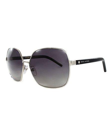 2657ea16b3bf Marc Jacobs Palladium Black Oversize Sunglasses - Men | Zulily