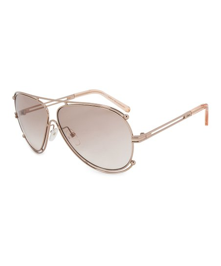 4f0081cabb64 love this product Rose Gold Isadora Modified Aviator Sunglasses
