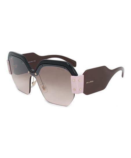1b02c09d0c99 love this product Pink & Brown Gradient Geometric Semi-Rimless Sunglasses