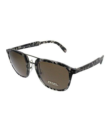dcf8613ac0a Prada Black   Gray Tortoise Oversize Sunglasses