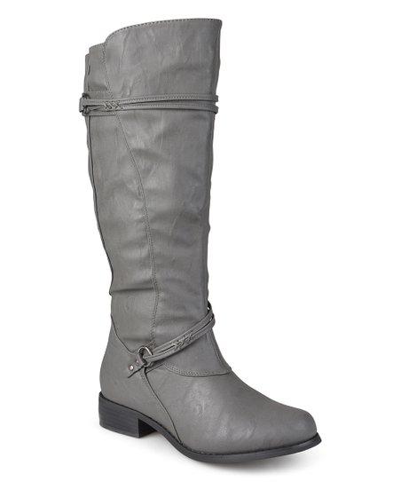 c105f2b7e94b Bella Cora Gray Harley Extra Wide-Calf Boot - Women   Zulily