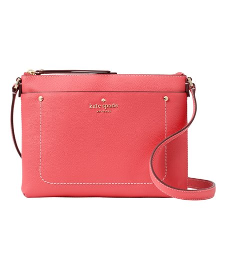 New Kate Spade Tatum Thompson Street Crossbody Leather Bright Flamingo