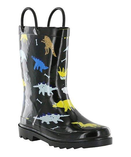 bfd10ebccb0 Nord Trail Black Dinosaur Mist III Rain Boot - Boys