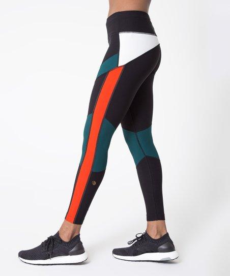 310db8bc62d MPG Black Color Block Finale 7/8 Run Leggings - Women