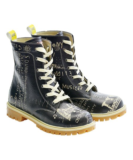 6da94f23ea63f love this product Black & White 'Jazz' Combat Boot - Women