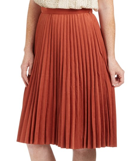 f9e1c79bf3 love this product Rust Pleated A-Line Skirt - Women