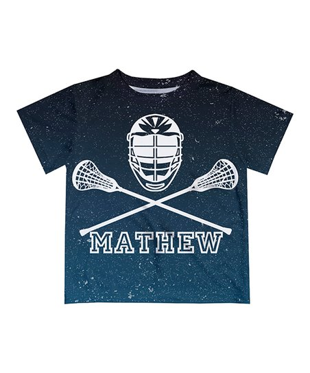 Navy Lacrosse Sticks Personalized Tee Toddler Boys