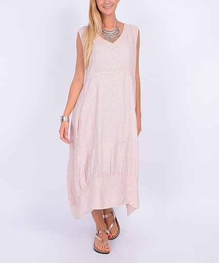 2d57be1f42d love this product Pink Stripe Linen Maxi Dress