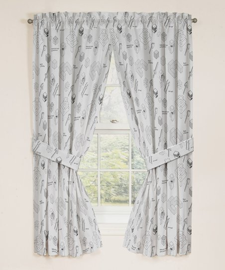 gray and white curtain panels blackout minecraft survive gray white 63 jay franco and sons 63 curtain panel