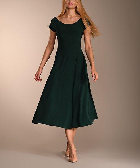 Lbisse Forest Green Midi Dress Women Zulily