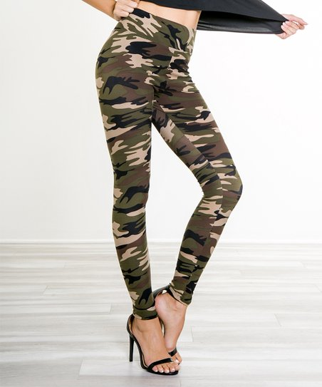 buying cheap wide selection of colors coupon codes Paolino Khaki Camo High-Waist Leggings