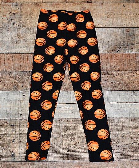 Beary Basics Black Orange Basketball Leggings Toddler Girls Best Price And Reviews Zulily