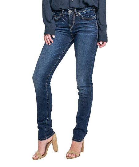 7df07724 Silver Jeans Co. Indigo Avery Straight-Leg Jeans - Women   Zulily