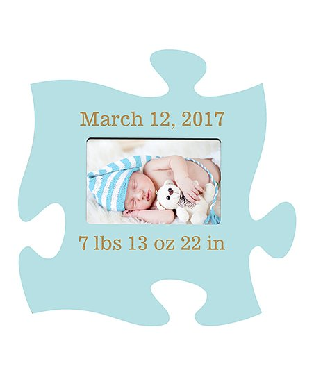 personal creations baby blue personalized puzzle piece frame zulily