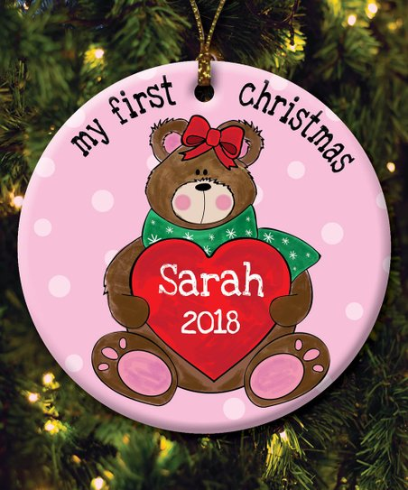 Personalized Planet Girls My First Christmas Personalized Ornament