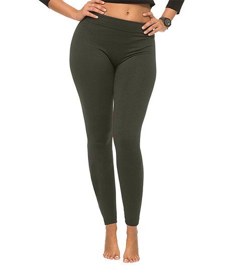 21199ca5815825 Coco Limon Green Fleece Leggings - Women | Zulily