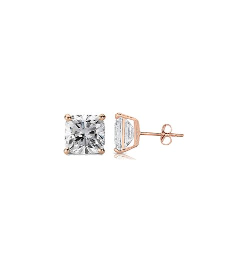 71a107d57 love this product Cubic Zirconia & 18k Rose Gold-Plated Square Stud Earrings