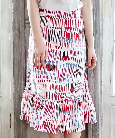 d54efd47b3 Bunny n Bloom Pink Carnival Ruffle Midi Skirt - Women   Zulily