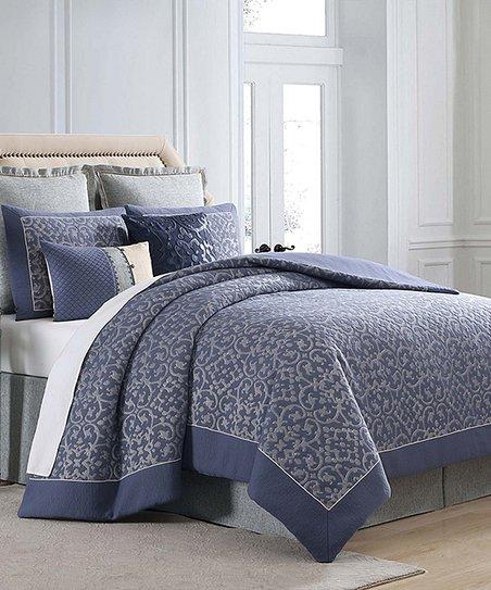 Blue Silver Charisma Villa Comforter Set Zulily