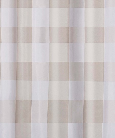 Khaki Buffalo Check Shower Curtain