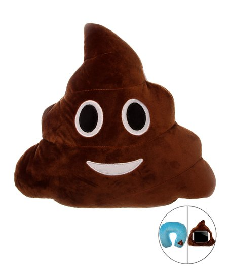 love this product Brown   Blue Three-In-One Poop Emoji Pillow 4f1e92bf8