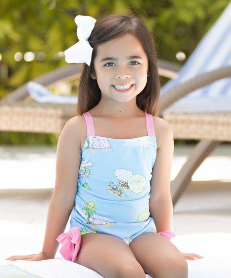 8d655e690f69f love this product Aqua & Pink Laguna Beach One-Piece - Newborn, Infant,  Toddler & Girls
