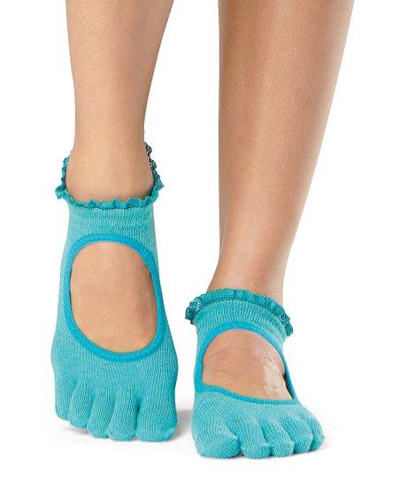 5161f4551 ToeSox Bella Sea Lace Grip Full Toe Socks - Women   Zulily