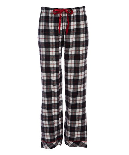 love this product Black   White Plaid Flannel Pajama Pants - Women 27d441758
