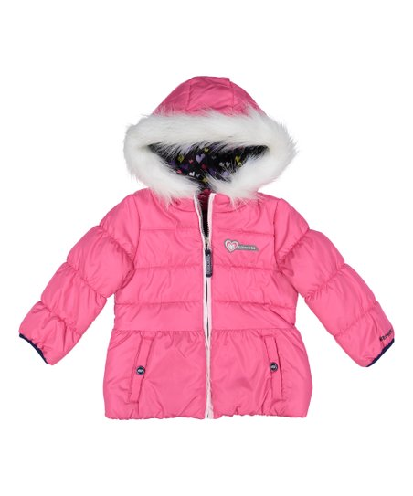 9c6a3d17ec4 love this product Pink Faux Fur-Trim Hooded Puffer Coat - Infant