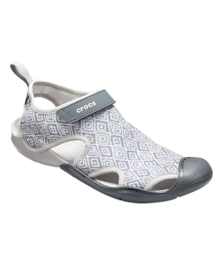 743d23961ddeb4 Crocs Gray Diamond Swiftwater Graphic Mesh Sandal - Women
