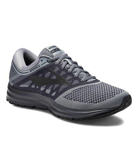 Brooks Gray \u0026 Ebony Revel Running Shoe