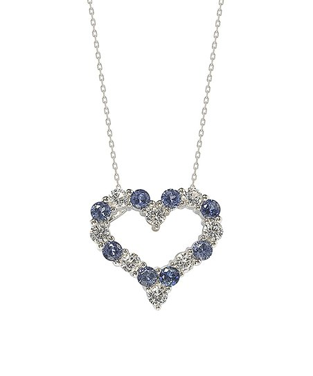 d0661b7a8cbe7 Suzy Levian Sapphire & Sterling Silver Heart Pendant Necklace
