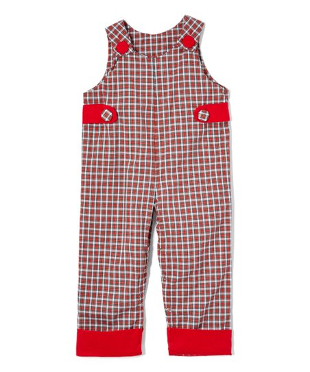 d366f6608b640 Caught Ya Lookin Red and Black Plaid Overalls - Infant   Toddler ...