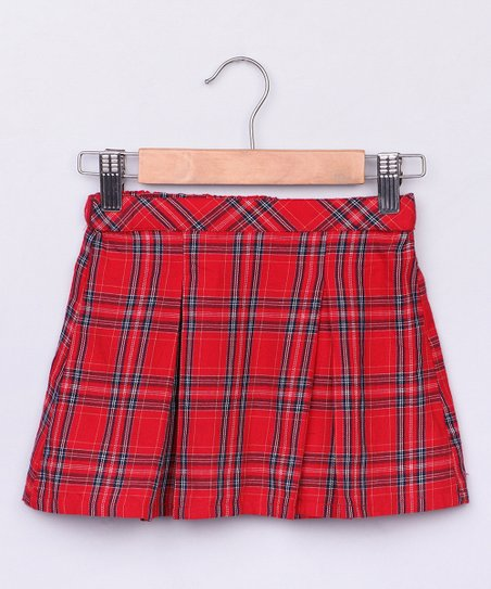 dbe503e292 love this product Red Plaid Pleated Skirt - Newborn, Infant, Toddler & Girls