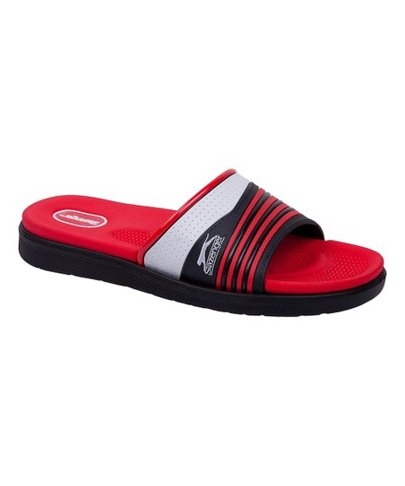 65e11f8b8329 love this product Red Stripe Contrast Slide - Men