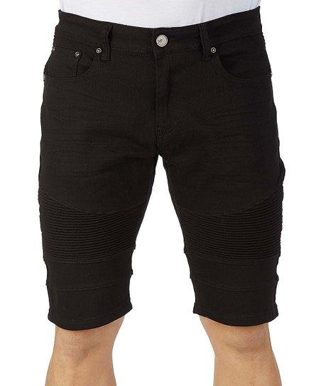 b66e122059 XRay Jeans Black Moto Denim Shorts - Men & Big | Zulily