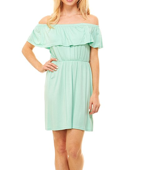67a183708f11 love this product Mint Off-Shoulder Dress - Women