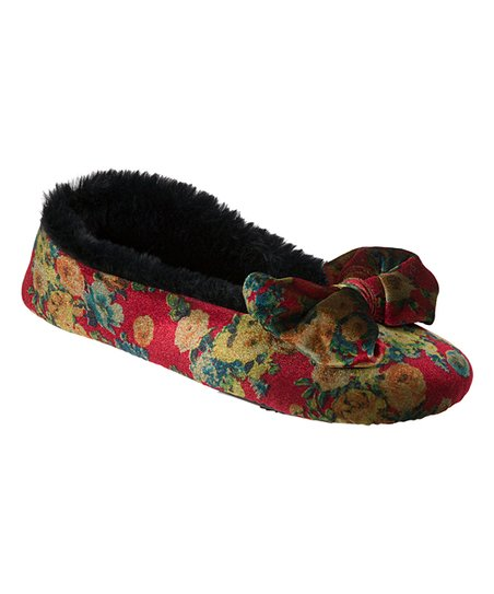 60fd9f4ef20 love this product Red Floral Bow-Accent Ballet Slipper - Women