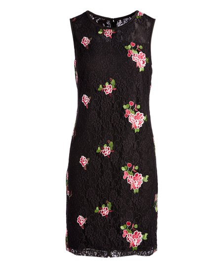 Nine West Black   Plum Floral-Embroidered Lace Sheath Dress - Women ... 454ff66d6