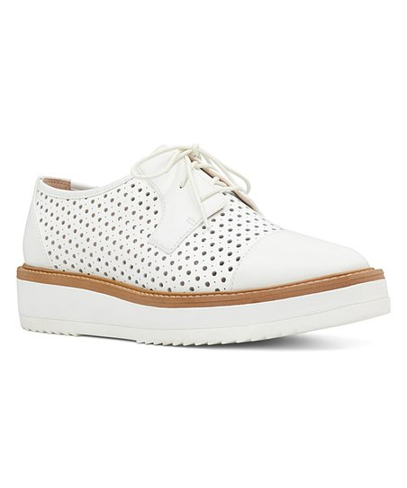Nine West White Verwin Leather Oxford