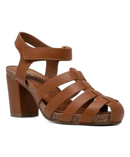 88b329f80 Sudini™ Cognac Carrara Leather Sandal - Women | Zulily