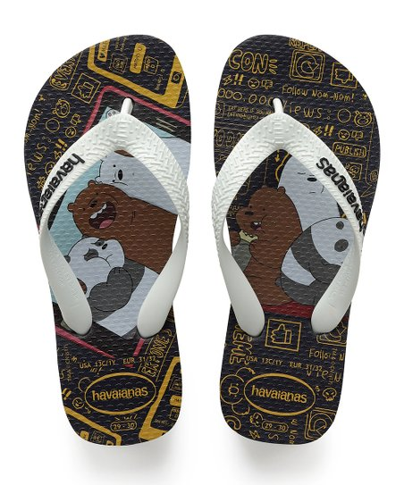 ee569f332 love this product Black   White We Bare Bears Flip-Flop - Kids