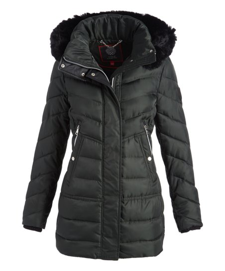 69901bb611a63 love this product Hunter & Faux Fur-Trim Long Down Coat - Women
