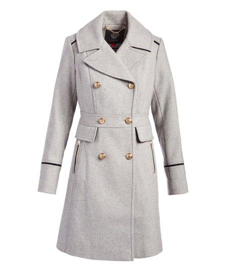price latest discount elegant appearance Light Gray Wool-Blend Peacoat - Women