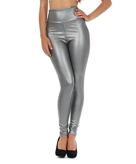 ae8e2e862741 love this product Silver Shiny High-Waist Leggings