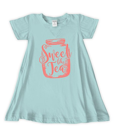 love this product Light Aqua  Sweet Like Tea  T-Shirt Dress - Toddler    Girls ce5387b58c84