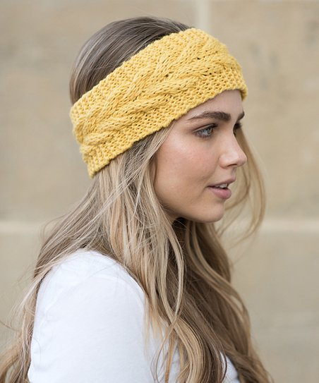 love this product Mustard Cable-Knit Head Wrap 389ed8ba345