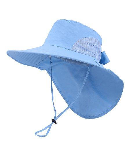 Simplicity Blue Bow UPF 50+ Wide-Brim Floppy Sunhat  37a684abdc28