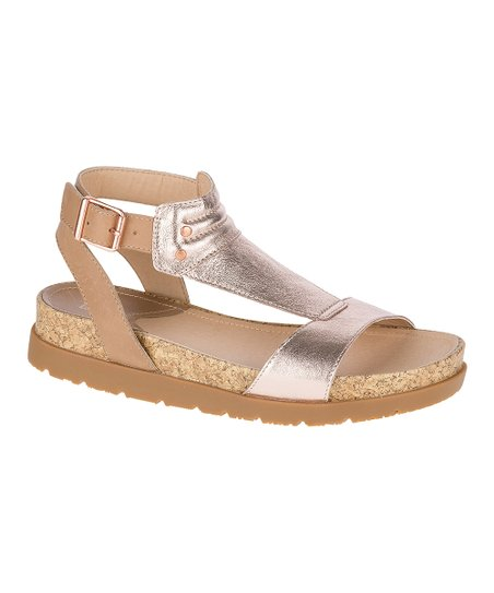 f517dbc8f4ef love this product Rose Gold Mystic Leather Sandal - Women